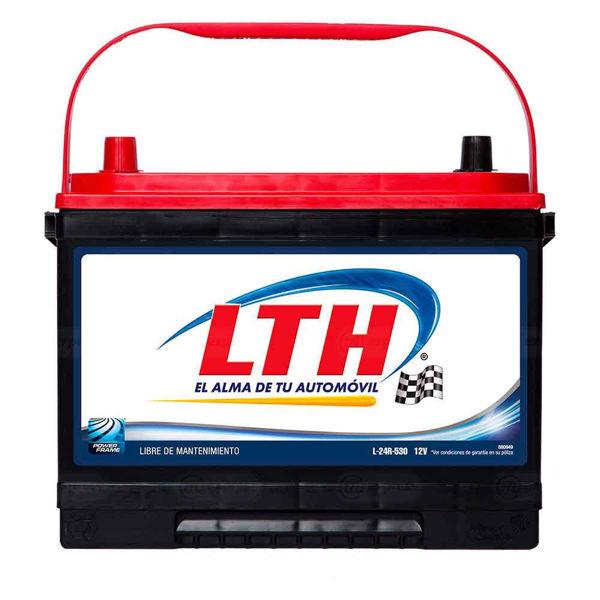 batería, carro, lth, l-24r-530, acumulador, pila