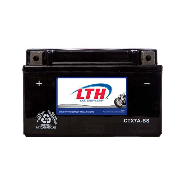 batería, moto, lth, ctx7a-bs, acumulador, pila