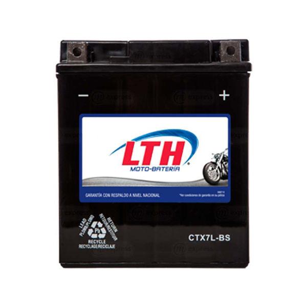 batería, moto, lth, ctx7l-bs, acumulador, pila