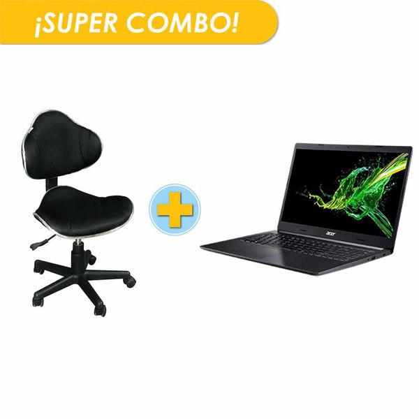 combo, computadora, acer, aspire, silla escritorio