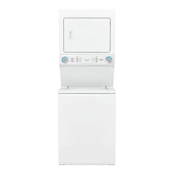 linea blanca, centro, lavado, frigidaire, flce7522aw, eléctrico, lavadora, secadora, todo en uno, gas